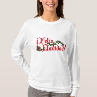 T-shirt Conception des textes de Feliz Navidad avec des
