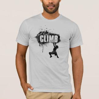 T-shirt Conception d'escalade de roche avec le grimpeur