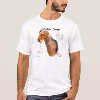 T-shirt Conception d'histoire d'Airedale Terrier