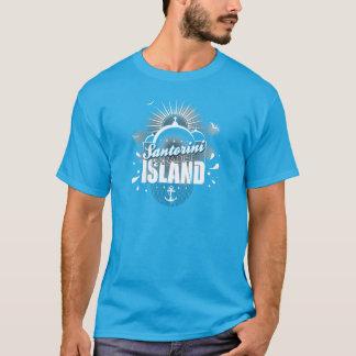 T-shirt Conception d'île de paradis de Santorini