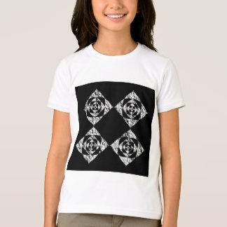T-shirt Conception florale élégante. Gris, noir, blanc