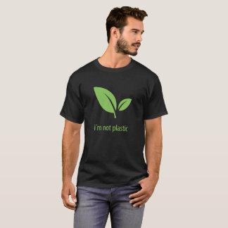 T-shirt Conception graphique noire verte verte de la vie |