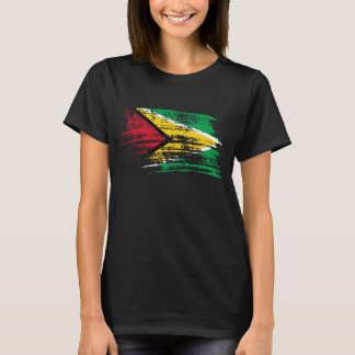 T-shirt Conception guyanaise fraîche de drapeau