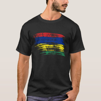 T-shirt Conception mauricienne fraîche de drapeau