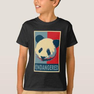 T-shirt Conception mise en danger d'art de bruit de panda