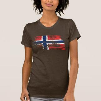 T-shirt Conception norvégienne fraîche de drapeau