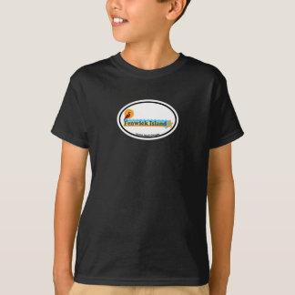 T-shirt Conception ovale d'île de Fenwick