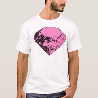 T-shirt Conception rose de Silkscreen de diamant