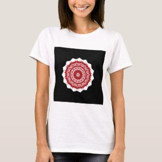 T-shirt Conception rouge et blanche de Morrocco de tuile