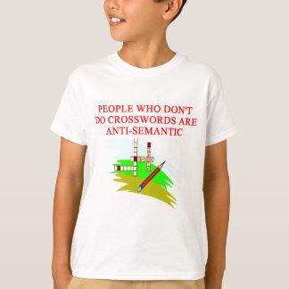T-shirt conception scabble et de mots croisé de jeu de