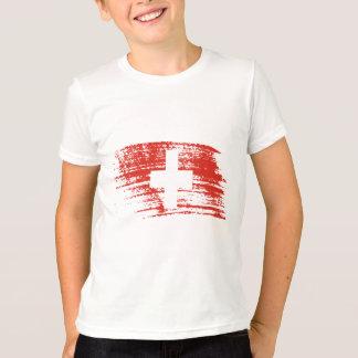 T-shirt Conception suisse fraîche de drapeau