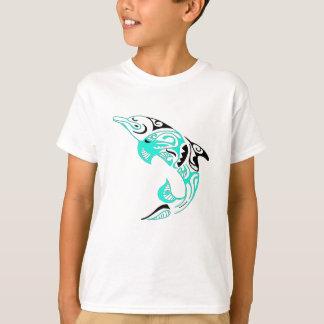 T-shirt Conception tribale noire et en bon état de