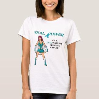T-shirt Conception turquoise 2 de Cancer ovarien de