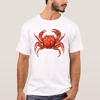 T-shirt Conception vintage de crabe