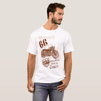 T-shirt Conception vintage de moto de Brown de style