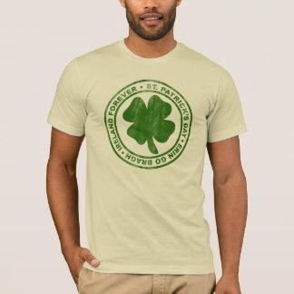 T-shirt Conception vintage du shamrock de St Patrick