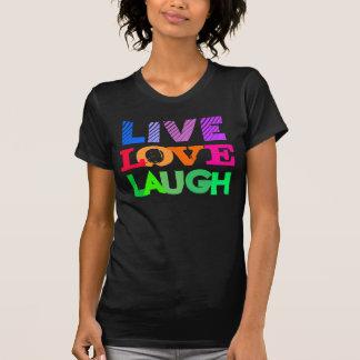 T-shirt Conception vivante de rire d'amour de coeur en