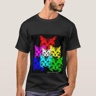 T-shirt Conceptions colorées de Chickie Haute de chats