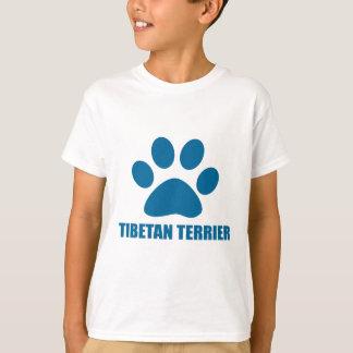 T-SHIRT CONCEPTIONS DE CHIEN DE TERRIER TIBÉTAIN