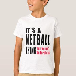 T-shirt Conceptions de chose de net-ball