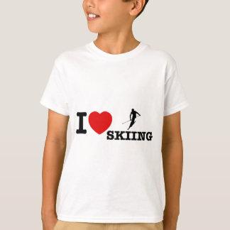 T-shirt conceptions de ski d'eau