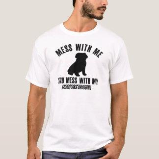 T-shirt Conceptions de terrier de Norfolk