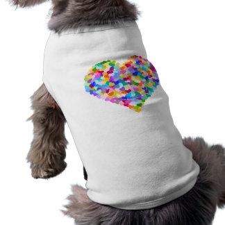 T-shirt Confettis de coeur d'arc-en-ciel