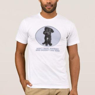 T-shirt Confiance (noire) de Schnoodle