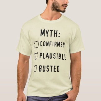 T-shirt Confirmé/Plausible/BUSTED