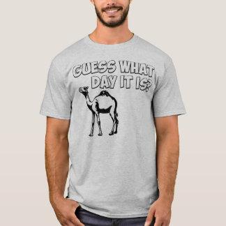 T-shirt Conjecture quel jour c'est ? Chameau de journée en