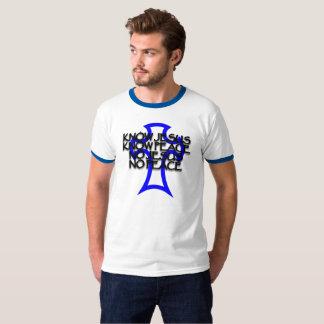 T-shirt connaissez Jésus, sachez la paix, aucun Jésus,