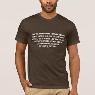 T-shirt connu et inconnu de citation