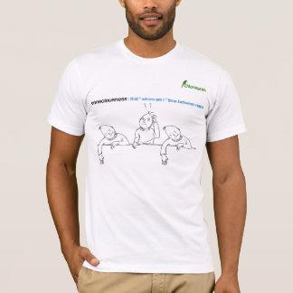 """T-shirt conscience : cela """"où suis je"""" chronomètre entre"""