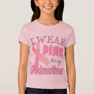 T-shirt Conscience de cancer du sein pour la marraine
