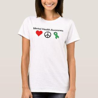 T-shirt Conscience de santé mentale - amour, paix,