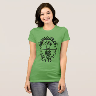 T-shirt Conspiration féministe de bière : arrondi