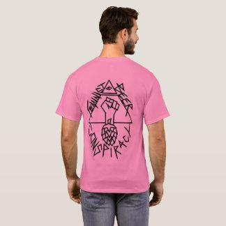 T-shirt Conspiration féministe de bière : arrondi sur le