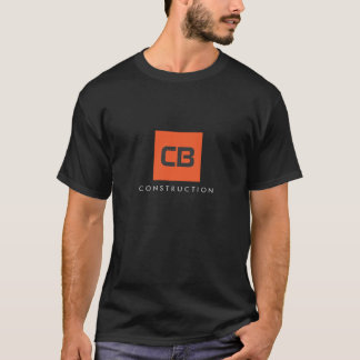 T-shirt Construction carrée de monogramme d'orange,