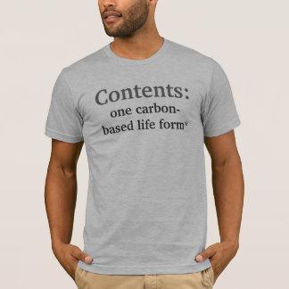 T-shirt Contenu, déni de responsabilité