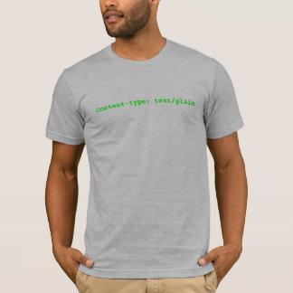 T-shirt Contenu-type : texte/simple
