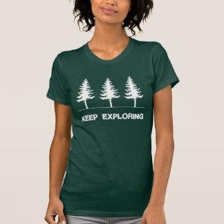 T-shirt Continuez à l'explorer - forêt