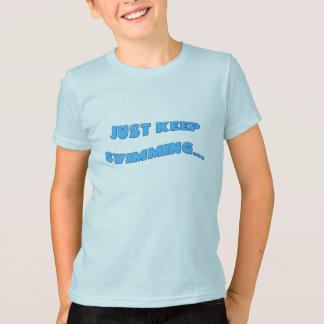 T-shirt Continuez juste la natation