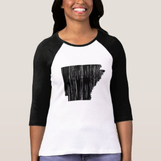 T-shirt Contour affligé d'état de l'Arkansas