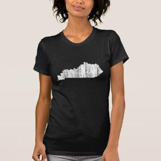 T-shirt Contour affligé d'état du Kentucky