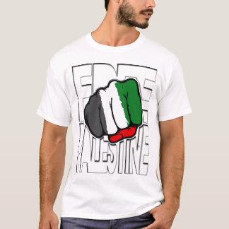 """T-shirt Contour libre de """"poing"""" de la Palestine"""