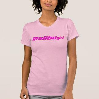 T-shirt Contour rouge-rose chaud de fille de Malibu