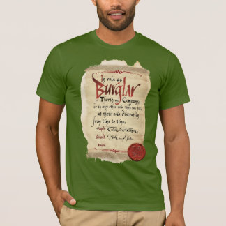 T-shirt Contrat de cambrioleur