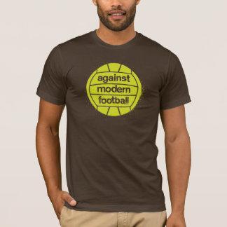 T-shirt Contre le football moderne (Brown/chaux)
