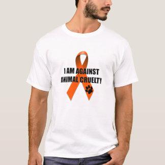 T-shirt Contre le ruban orange de conscience de cruauté