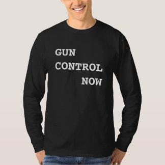 T-shirt Contrôle des armes maintenant, texte blanc